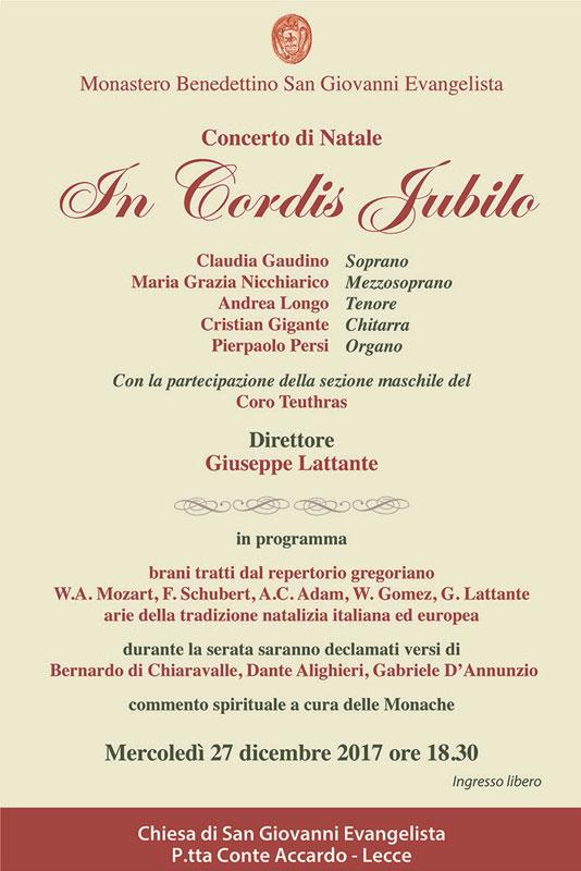 Concerto di Natale In Cordis Iubilo