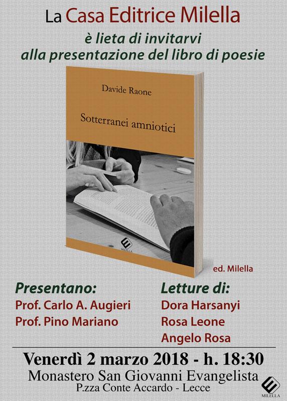 presentazione del libro sotterranei amniotici