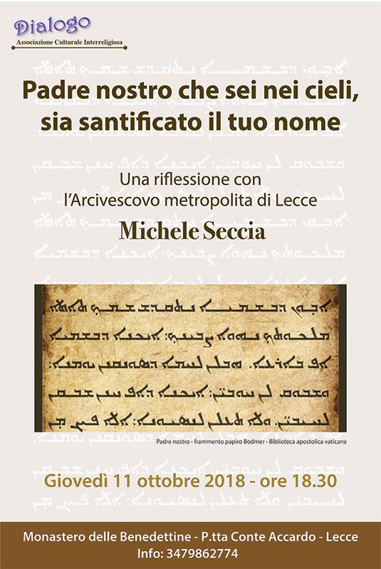 Riflessione con l'Arcivescovo Metropolita di Lecce - Michele Seccia