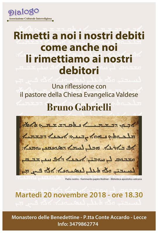 Riflessione con il pastore della Chiesa Evangelica Valdese Bruno Gabrielli